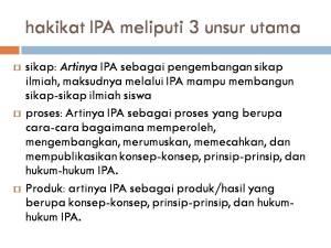 hakikat IPA